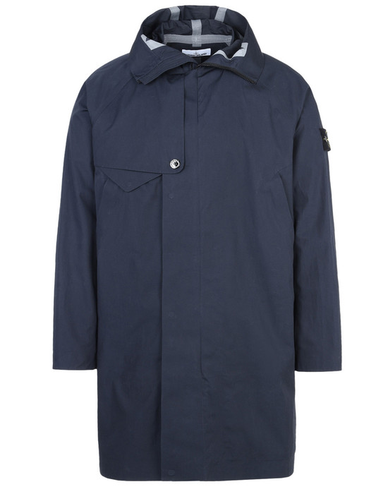 STONE ISLAND Full-length jacket 70225 WATER REPELLENT SUPIMA COTTON