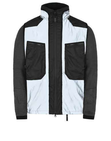 STONE ISLAND Mid-length jacket 450S7 GARMENT DYED PLATED REFLECTIVE WITH MUSSOLA GOMMATA