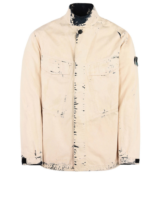 STONE ISLAND Mid-length jacket 44031 HAND CORROSION ON RASO