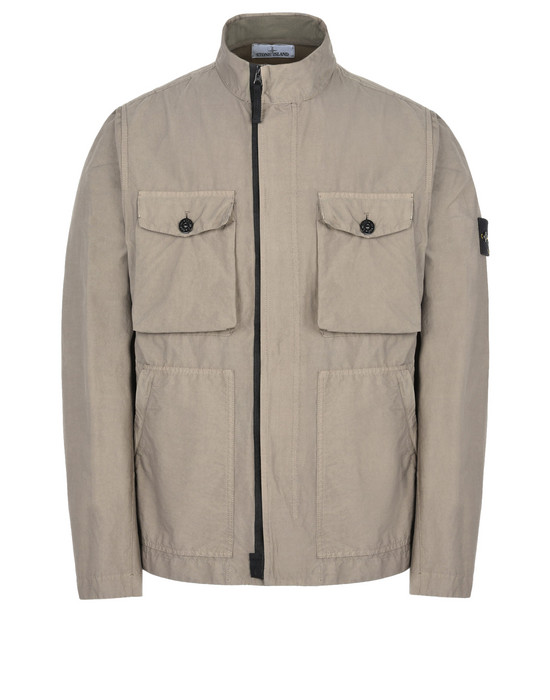 STONE ISLAND Mid-length jacket 44530 LIGHT COTTON NYLON TWILL