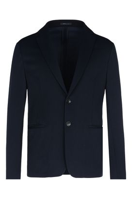 Armani Two button jackets Men single-breasted two-button pique jacket