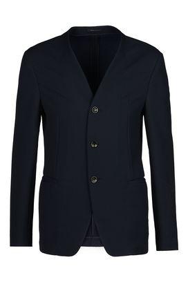 Armani Three button jackets Men single-breasted three-button matelassé fabric jacket