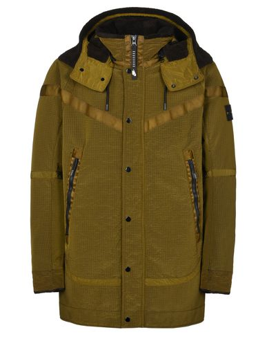 STONE ISLAND Mid-length jacket 401N1 JACQUARD GRID ON WOOL FUR<br>NIKELAB X STONE ISLAND
