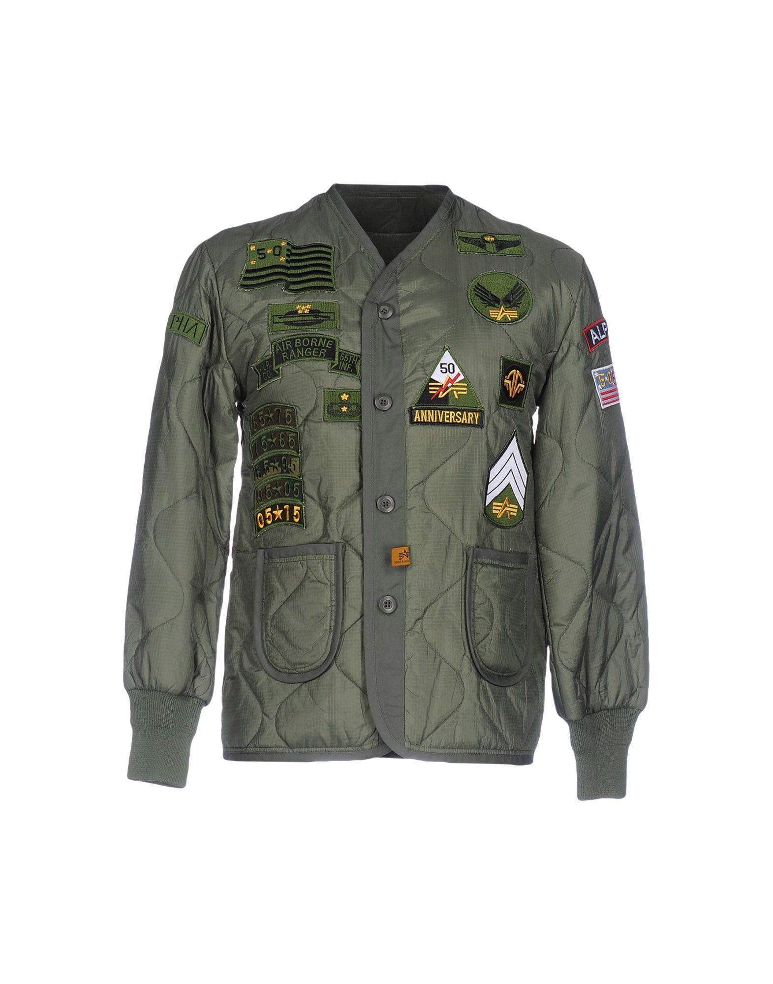 ALPHA INDUSTRIES INC. Herren Jacke Farbe Militärgrün Größe 7