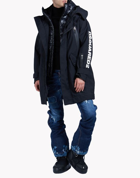 d2 print hooded ski parka  coats & jackets Man Dsquared2