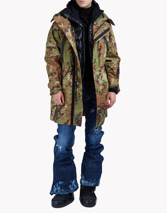 military print ski parka coats & jackets Man Dsquared2