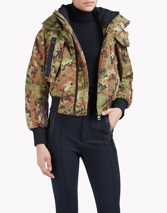 military print ski bomber coats & jackets Woman Dsquared2