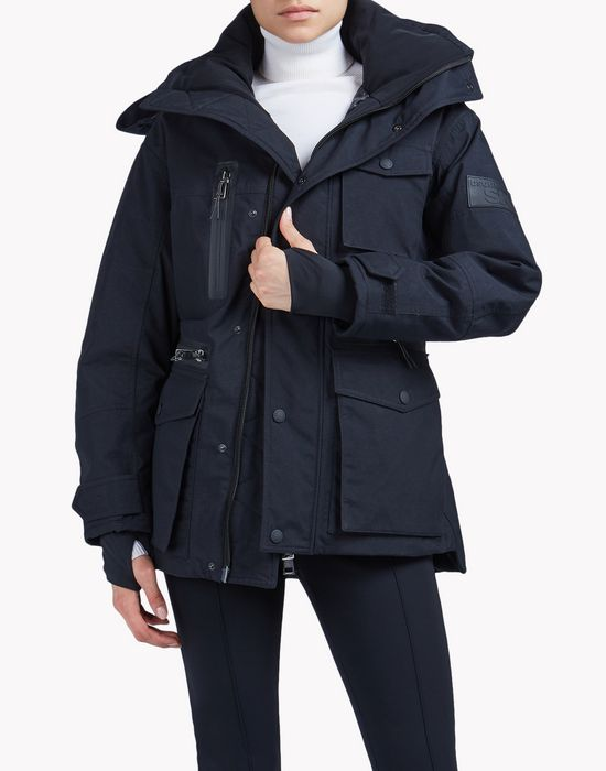 contrast ski parka coats & jackets Woman Dsquared2