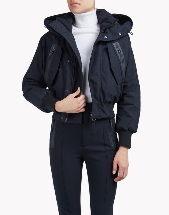 hooded ski bomber jacket coats & jackets Woman Dsquared2