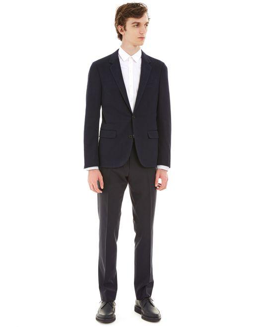 lanvin lightweight tailored jacket men