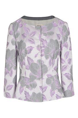 Armani Blazers Women floral jacquard jacket