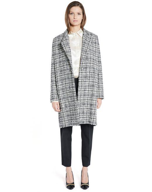 lanvin tweed coat women
