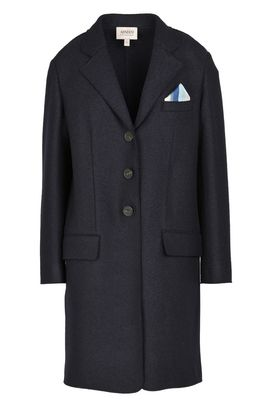 Armani Single-breasted coats Women single-breasted boiled wool coat