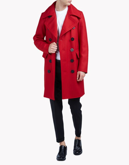 wool peacoat coats & jackets Man Dsquared2