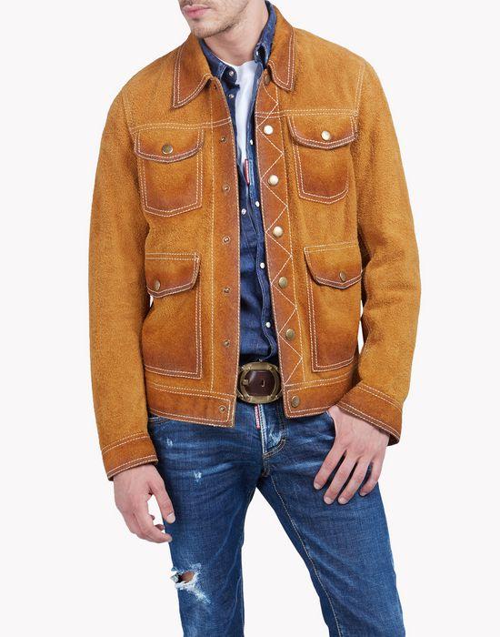 four pockets suede jacket ropa de abrigo Hombre Dsquared2