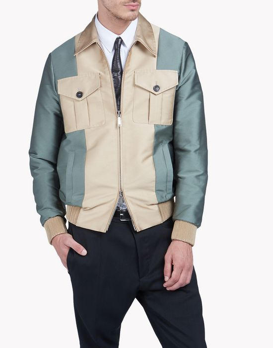 contrasted bomber jacket coats & jackets Man Dsquared2