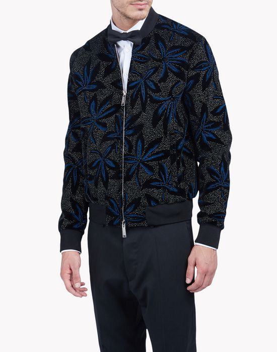 velvet floral bomber jacket coats & jackets Man Dsquared2