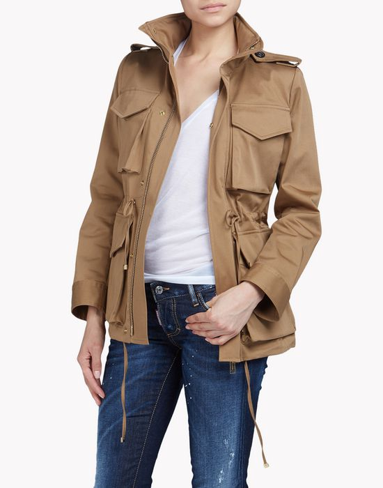 utility cotton jacket coats & jackets Woman Dsquared2