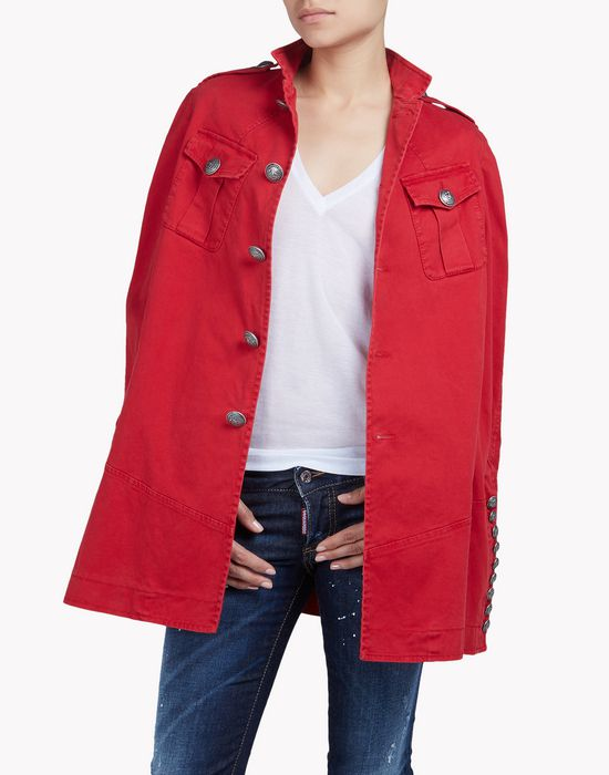 livery cape coats & jackets Woman Dsquared2