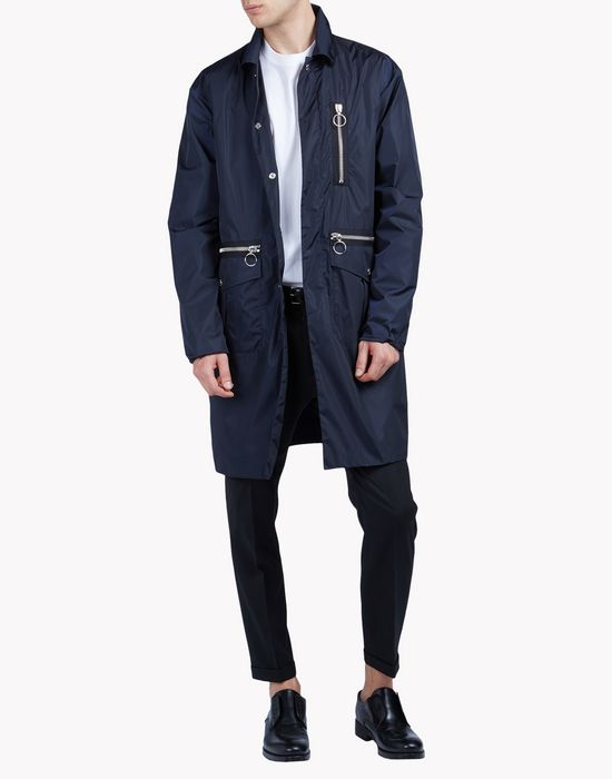 navy zipped parka coats & jackets Man Dsquared2