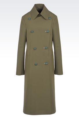 Armani Coats Women double face technical trench