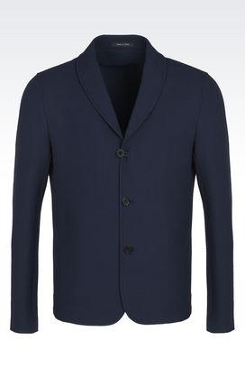 Armani Vestes Homme veste en coton effet jersey