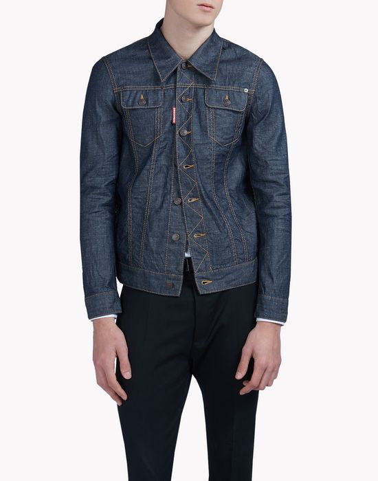 dark wash denim jacket coats & jackets Man Dsquared2