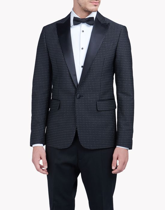 micro dot blazer coats & jackets Man Dsquared2