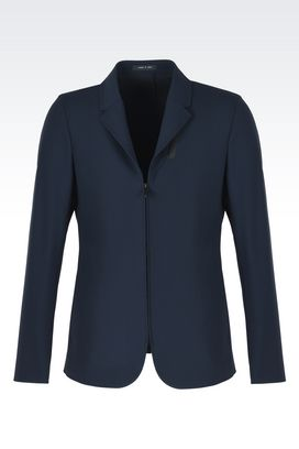 Armani Jackets Men zip front versatile collar jacket