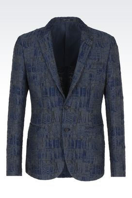 Armani Two button jackets Men jacquard two-button jacket