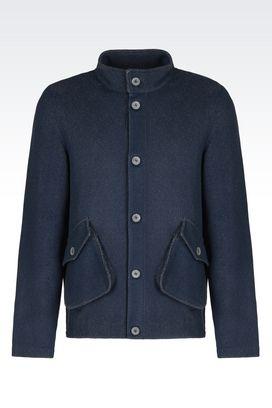 Armani Blazer Uomo giacca in jacquard di misto cotone