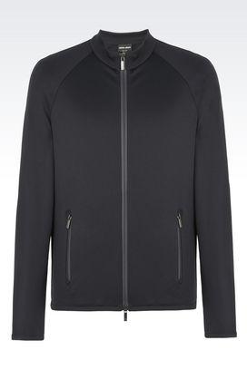 Armani Blouson Uomo giacca sportswear in felpa