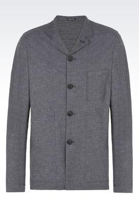 Armani Blazer Uomo giacca monopetto in jacquard di cotone