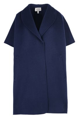 Armani Double-breasted coats Women short-sleeved wool coat