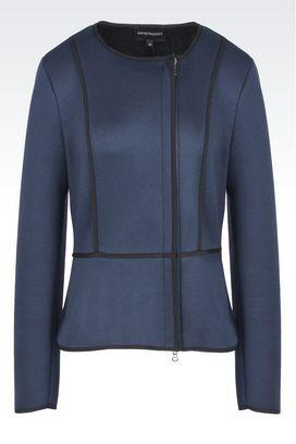 Armani Jackets Women double face jersey jacket