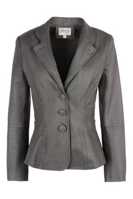 Armani Giacche di pelle Donna giacca in pelle a tre bottoni sfiancata