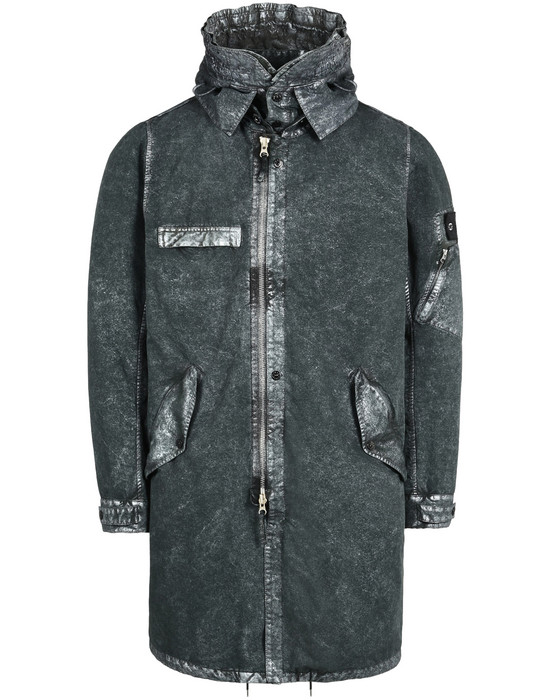 STONE ISLAND SHADOW PROJECT OVERCOAT 70404 FISHTAIL PARKA WITH GATEWAY POCKETS (DAVID-C, TC+ SILVER MIST TREATMENT)