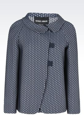 Armani Blazers Women cotton jacquard jacket with toggles