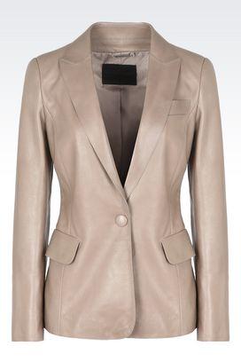 Armani Blazer Donna giacca monopetto in pelle