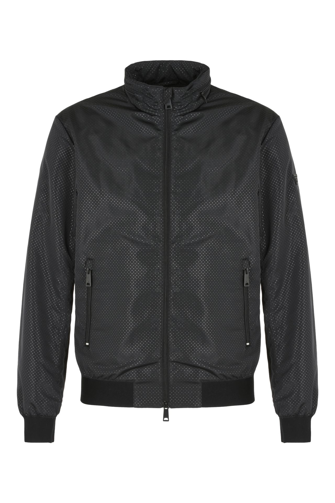 Armani Collezioni Men TECHNICAL FABRIC BOMBER JACKET, Polyester ...