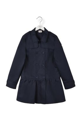 Armani Double-breasted coats Women flounced cotton trench coat
