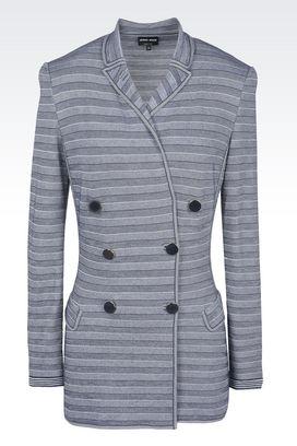 Armani Blazer Donna giacca doppiopetto in maglia misto cachemire