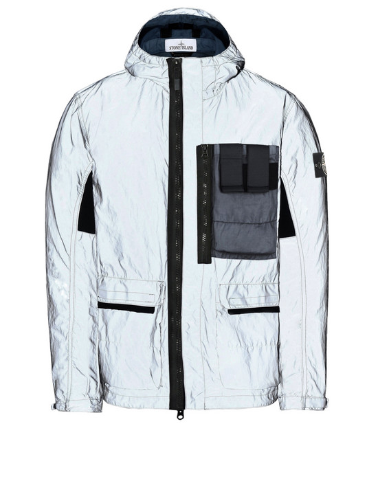 STONE ISLAND Mid-length jacket 453S6 GARMENT DYED PLATED REFLECTIVE WITH MUSSOLA GOMMATA