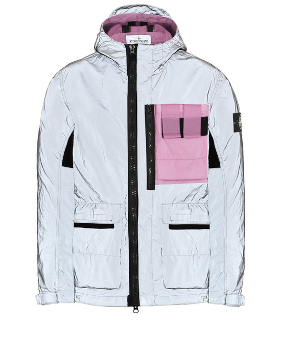 b4c787dee979dc 453S6 GARMENT DYED PLATED REFLECTIVE WITH MUSSOLA GOMMATA Mid Length Jacket  Stone Island Men - Official Online Store