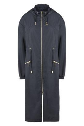 Armani Cappotti Monopetto Donna giacca lunga in tessuto tecnico