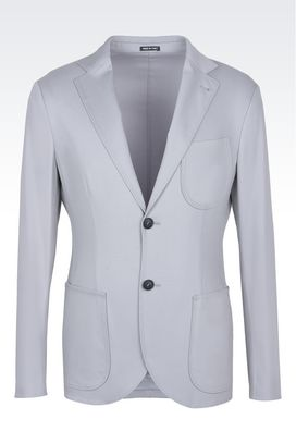 Armani Blazers Men double faced wool and silk tokyo jacket