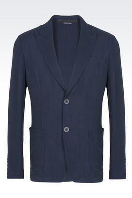 Armani Blazer Uomo giacca monopetto in cupro