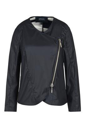 Armani Blouson Jacket Donna blouson in similpelle con interno a contrasto