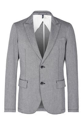 Armani Two button jackets Men two button cotton seersucker jacket