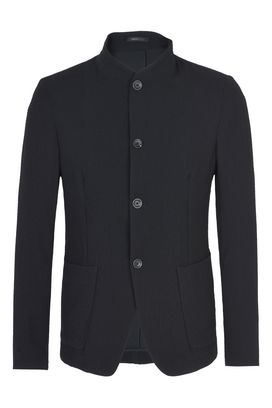 Armani Blazers Men mandarin collar four-button jacket